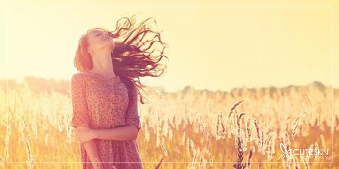 تاثیر نور آفتاب بر مو
