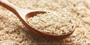 برنج قهوهای و پوست