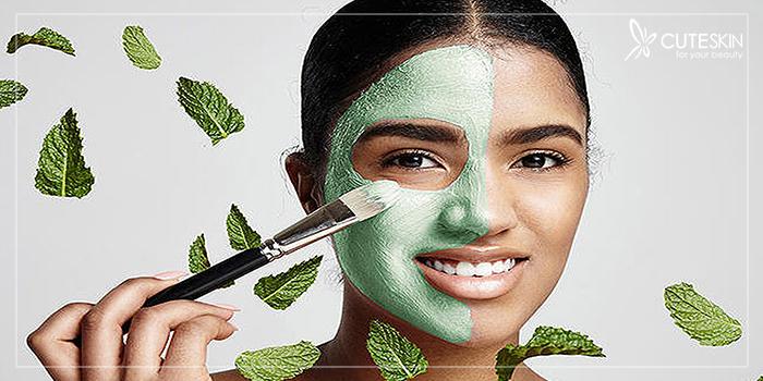 آبرسانی پوست با ماسک نعنا