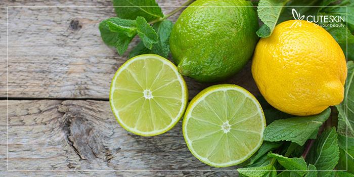 درمان آکنه با ماسک لیمو و نعنا