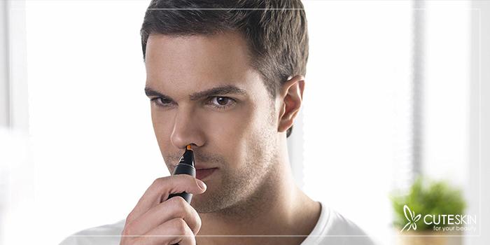 درمان پزشکی موهای زائد بینی