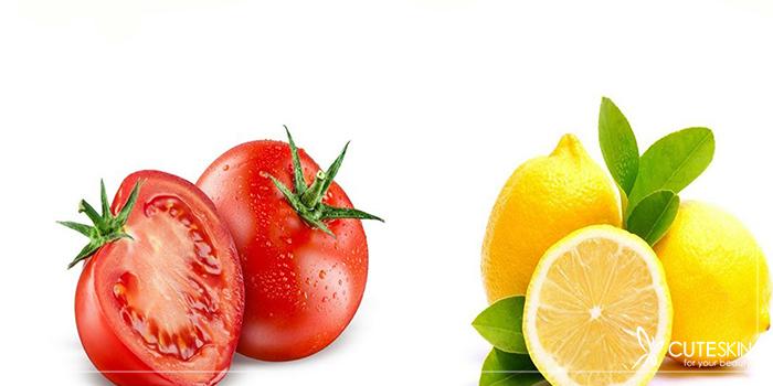 ماسک صورت گوجه فرنگی و لیمو