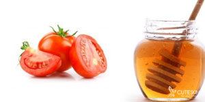 ماسک صورت گوجه فرنگی و عسل