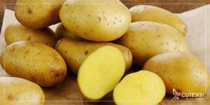 آب سیبزمینی برای رفع تیرگی آرنج، زانو و قوزک پا