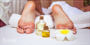 درمان ترک پا با روغن زیتون
